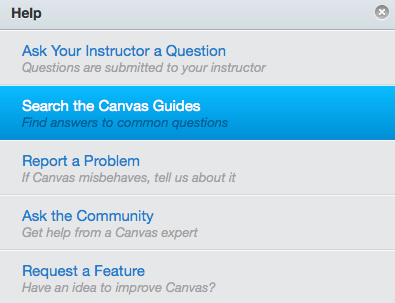Search Canvas Guides