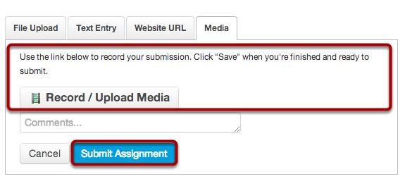 Submit Media Recording