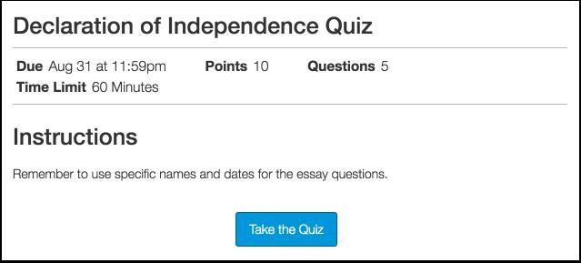 Take Quiz