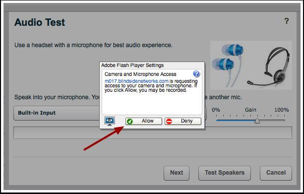 Accept Adobe Flash Player Settings