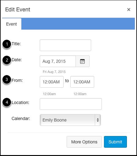 Add Event Details
