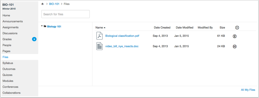 View Course Files