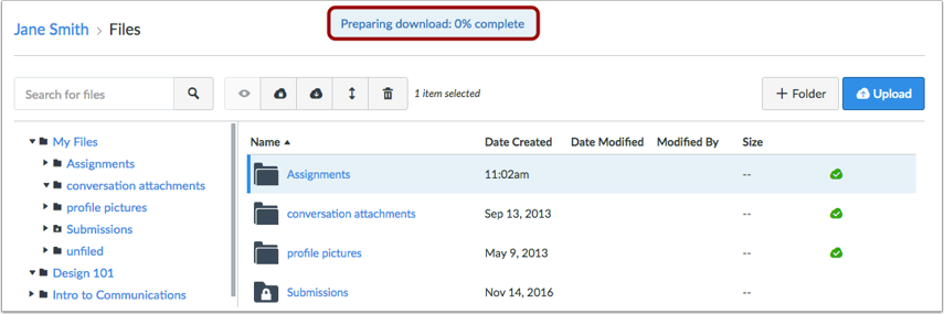 View Download Progress
