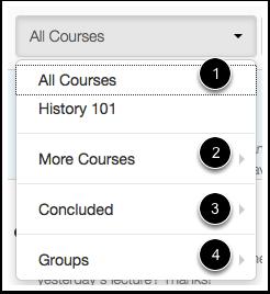View All Courses Menu