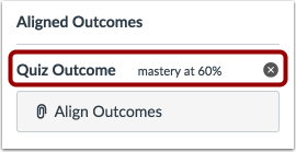View Aligned Outcomes
