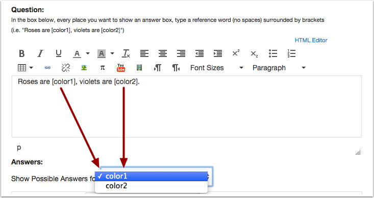 Create Reference Words