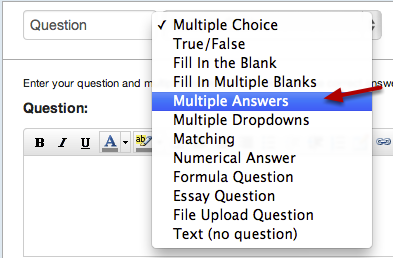 Select Multiple Answers Question Type