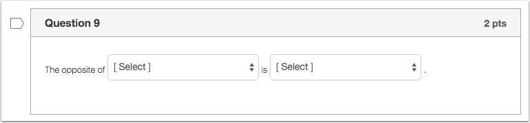 Student View for Multiple Dropdowns Question