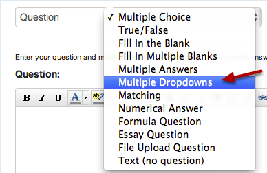 Select Multiple Dropdowns Question Type