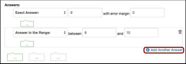 Add Additional Answers