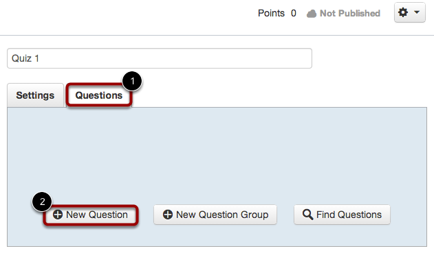 Create a New Question