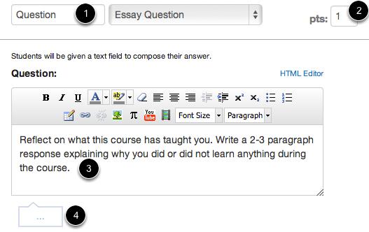 Edit Essay Question Details