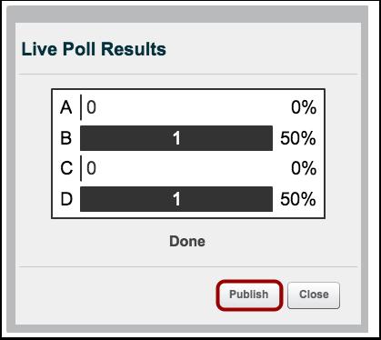 Publish Poll
