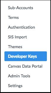 Open Developer Keys