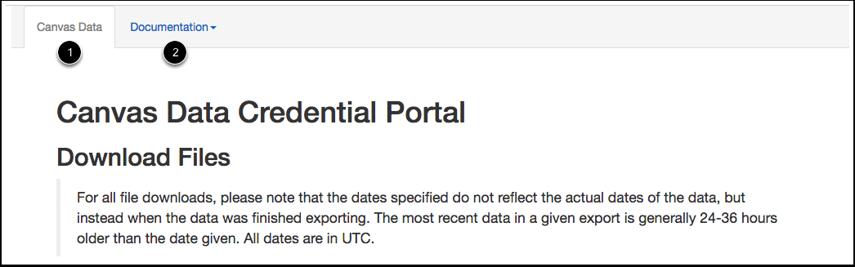 View Canvas Data Portal
