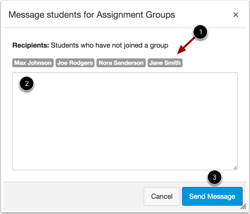 Message Students for Self Sign-Up
