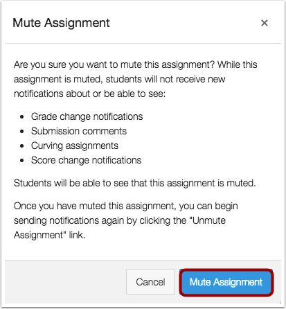 Confirm Mute Assignment