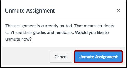 Confirm Unmute Assignment