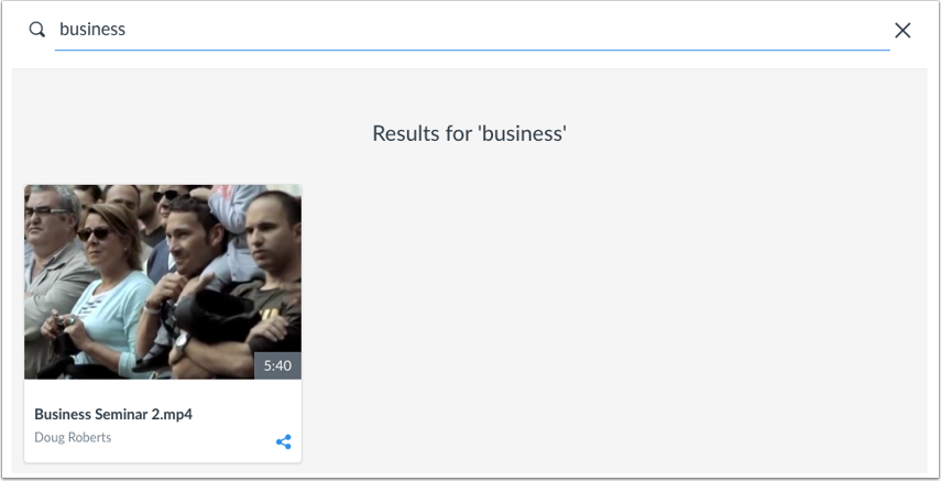 View Search Results