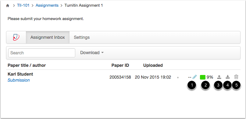 Manage Assignment Submission