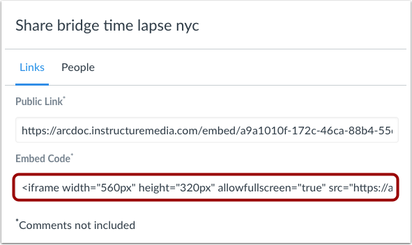 View Embed Code