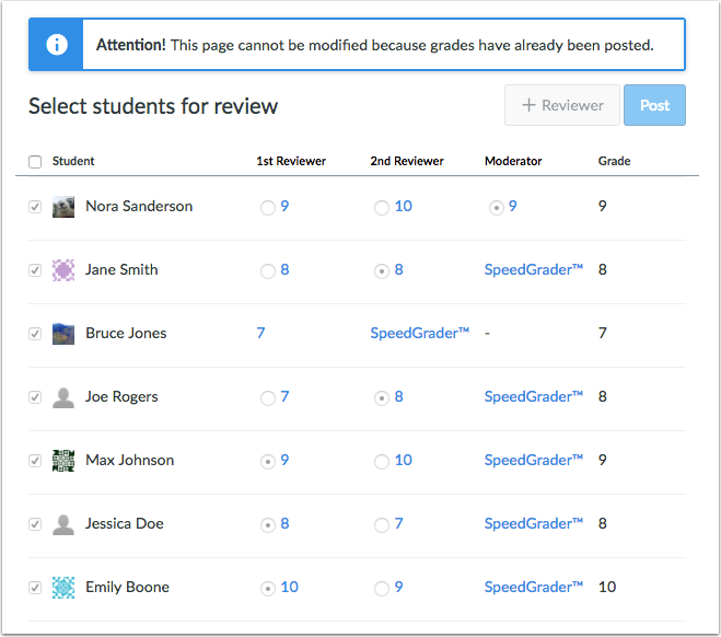 View Posted Grades