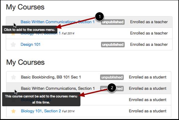 View Unpublished Courses