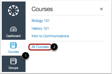 Open Courses in New Canvas UI