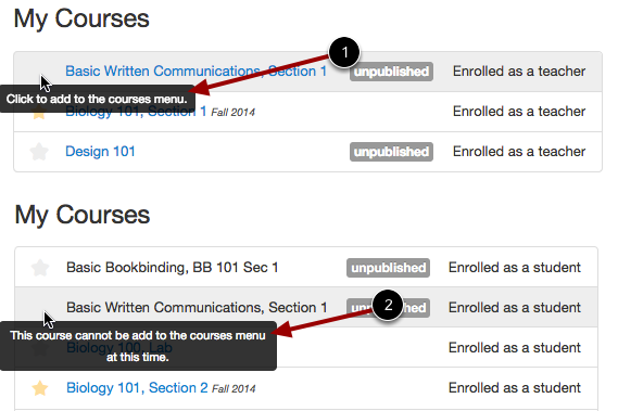 Unpublished Courses