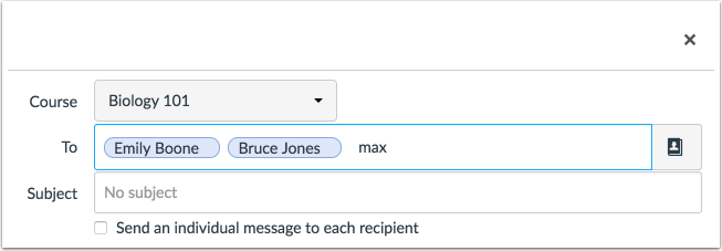 Remove Recipient Name