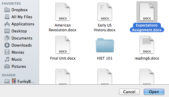Select File(s)