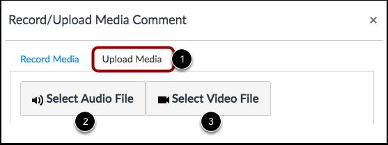 Upload Media Comment