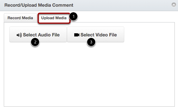 Upload Media Comment