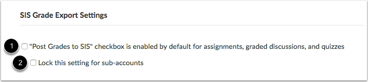 Configure SIS Grade Export Settings