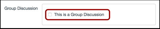 Selecionar Discussão em Grupo