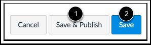 Salvar e Publicar