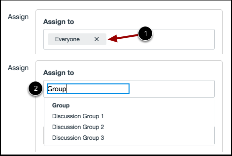 Atribuir a um Grupo