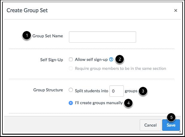 Criar Conjunto de Grupo