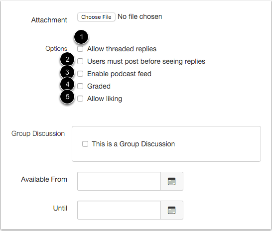 Add Discussion Options