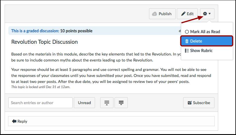 Delete Discussion