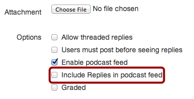 Include Replies in Podcast