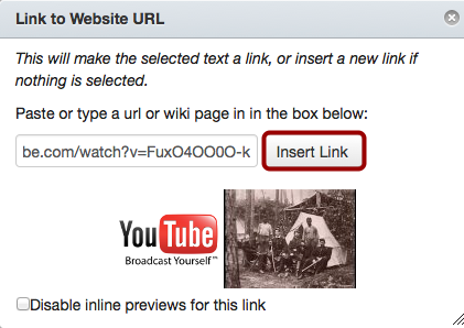 Paste URL