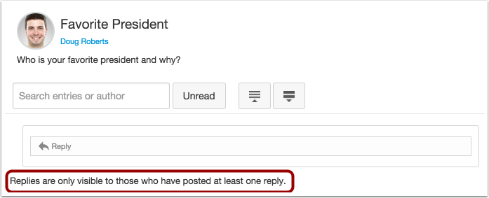Student View Discussion