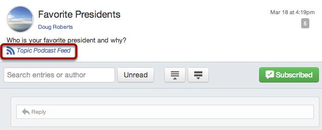Open RSS feed