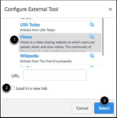 Configure External Tool