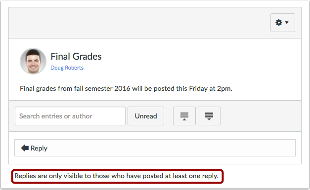 View Announcement (Student View)