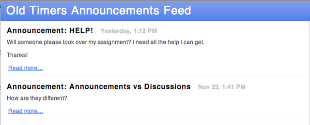 Subscribe to Announcements through Safari