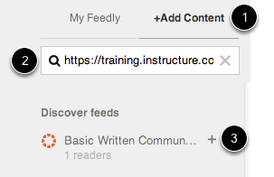Subscribe to Announcements Feed through Feedly