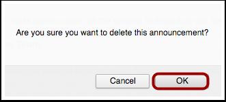Delete Announcement