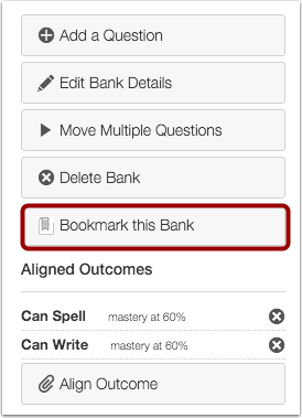 Bookmark Question Bank